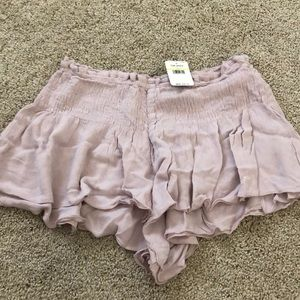 Free People Lost Girl Smocked Shorts with Bag